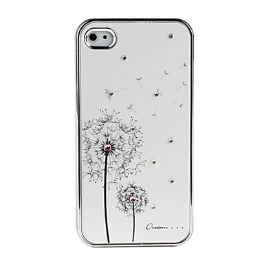 Белый чехол SWAROVSKI Dandelion для iPhone 4/4S