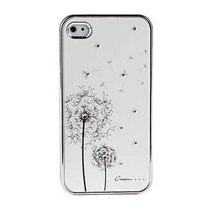 Купить Белый чехол SWAROVSKI Dandelion для iPhone 4/4S