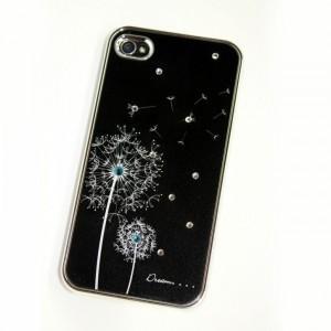Купить Черный чехол SWAROVSKI Dandelion для iPhone 4/4S