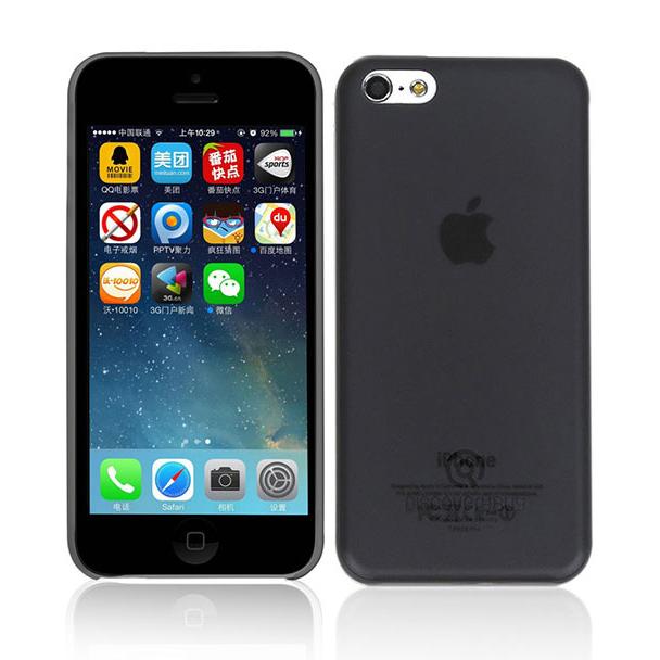 Ультратонкий чехол DiscoveryBuy Wing Black 0.4mm для iPhone 5C