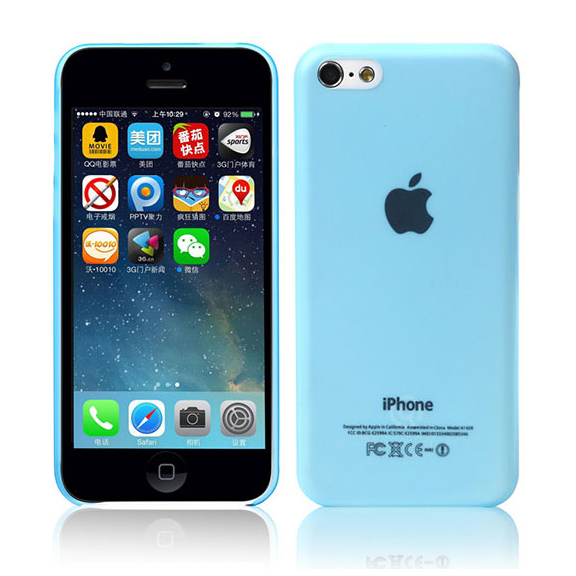 Ультратонкий чехол DiscoveryBuy Wing Blue 0.4mm для iPhone 5C