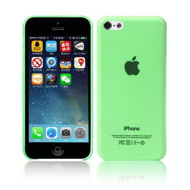 Ультратонкий чехол DiscoveryBuy Wing Green 0.4mm для iPhone 5C