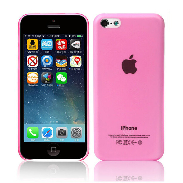 Ультратонкий чехол DiscoveryBuy Wing Pink 0.4mm для iPhone 5C