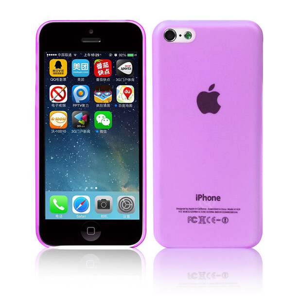 Ультратонкий чехол DiscoveryBuy Wing Purple 0.4mm для iPhone 5C