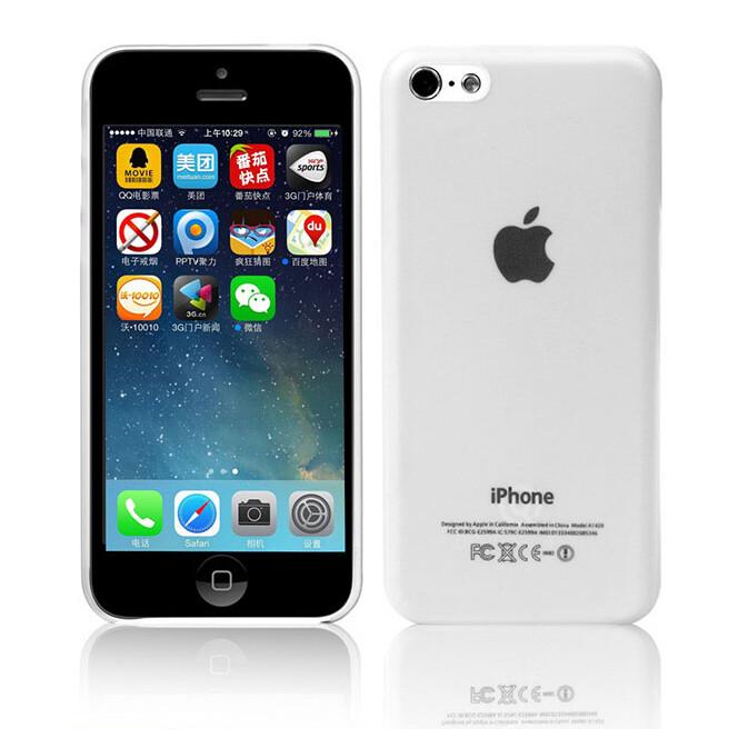 Ультратонкий чехол DiscoveryBuy Wing White 0.4mm для iPhone 5C