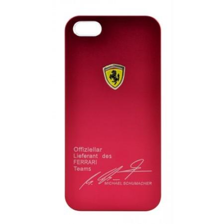 Красный чехол FERRARI Signature Michael Schumacher для iPhone 5/5S/SE