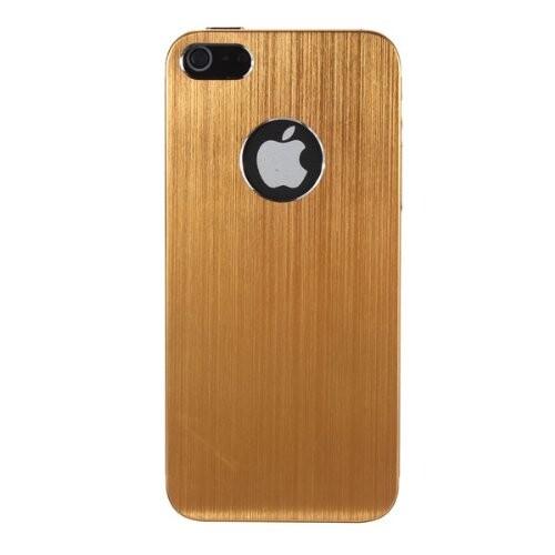 Золотой чехол Gold Aluminum Brushed для iPhone 5/5S/SE