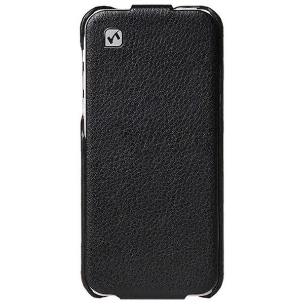 Кожаный флип-чехол HOCO Duke Black для iPhone 5C