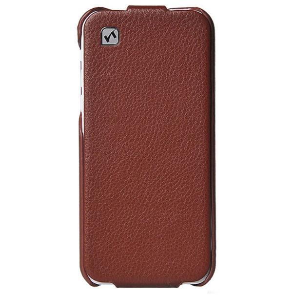 Кожаный флип-чехол HOCO Duke Brown для iPhone 5C