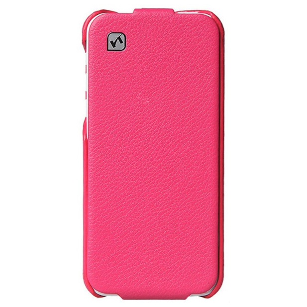 Кожаный флип-чехол HOCO Duke Pink для iPhone 5C