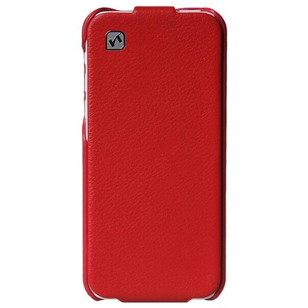 Кожаный флип-чехол HOCO Duke Red для iPhone 5C