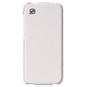 Купить Кожаный флип-чехол HOCO Duke White для iPhone 5C