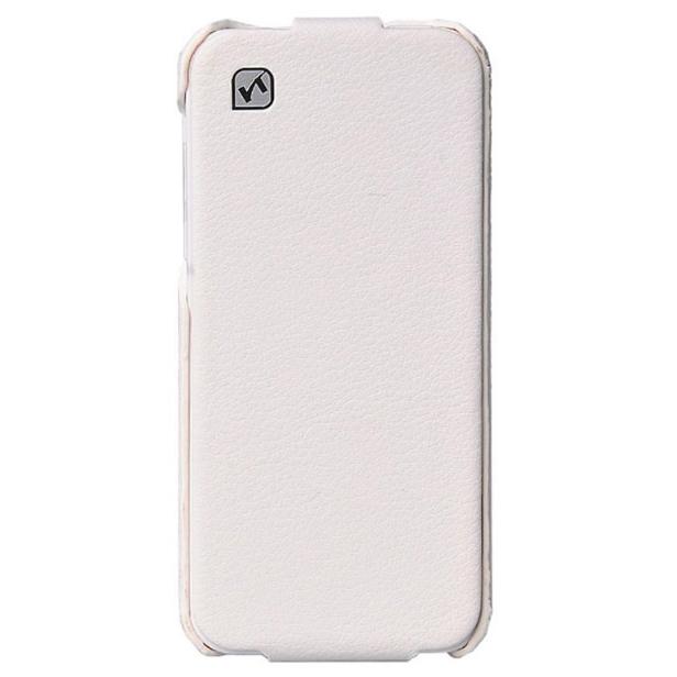 Кожаный флип-чехол HOCO Duke White для iPhone 5C