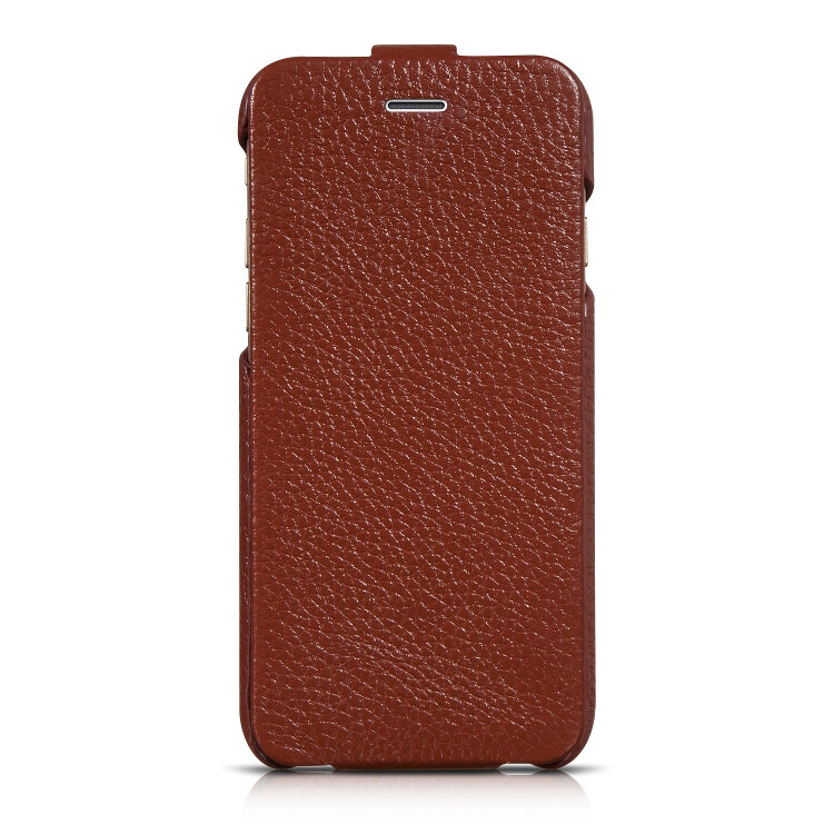 Кожаный чехол HOCO Premium Collection Flip Brown для iPhone 6/6s