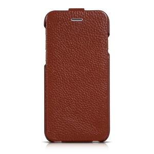 Купить Кожаный чехол HOCO Premium Collection Flip Brown для iPhone 6/6s