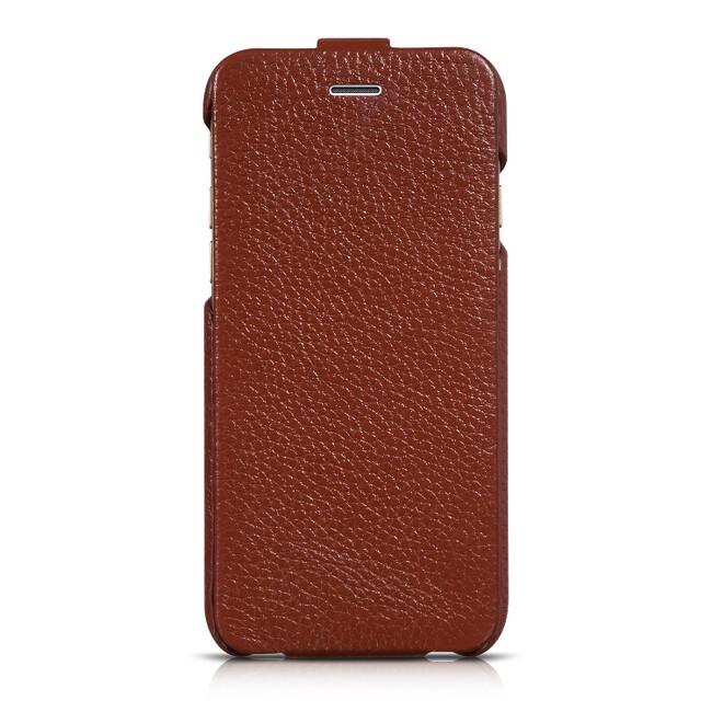 Кожаный чехол HOCO Premium Collection Flip Brown для iPhone 6/6s