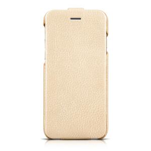 Купить Кожаный чехол HOCO Premium Collection Flip Golden для iPhone 6/6s