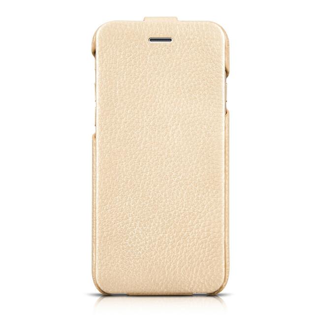 Кожаный чехол HOCO Premium Collection Flip Golden для iPhone 6/6s