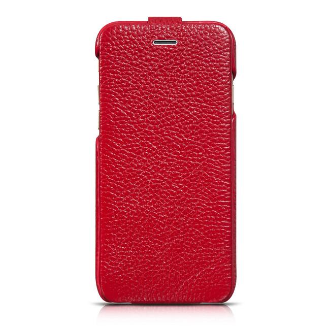 Кожаный чехол HOCO Premium Collection Flip Red для iPhone 6/6s