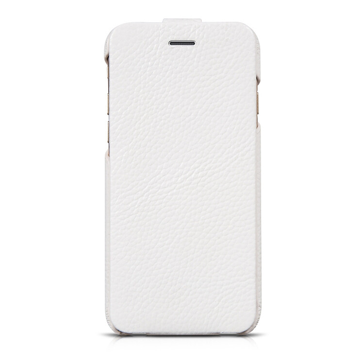 Кожаный чехол HOCO Premium Collection Flip White для iPhone 6/6s