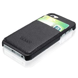 Купить Черный чехол iCarer Card Inserted с отделениями для карточек для iPhone 5/5S/SE