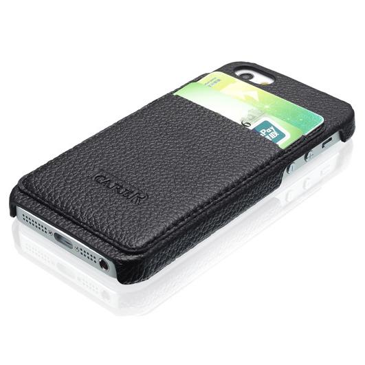 Черный чехол iCarer Card Inserted с отделениями для карточек для iPhone 5/5S/SE
