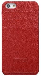 Красный чехол iCarer Card Inserted с отделениями для карточек для iPhone 5/5S/SE