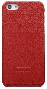 Купить Красный чехол iCarer Card Inserted с отделениями для карточек для iPhone 5/5S/SE