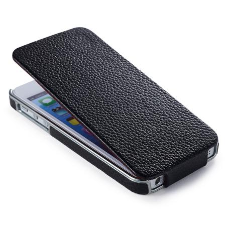 Чехол iCarer Electroplating Flip Black для iPhone 5/5S/SE
