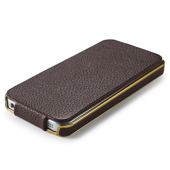 Чехол iCarer Electroplating Flip Brown для iPhone 5/5S/SE