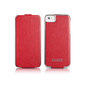 Купить Чехол iCarer Electroplating Flip Red для iPhone 5/5S/SE