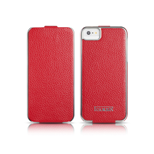 Чехол iCarer Electroplating Flip Red для iPhone 5/5S/SE