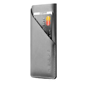 Купить Чехол-карман MUJJO Leather Wallet Sleeve Gray для iPhone X/XS