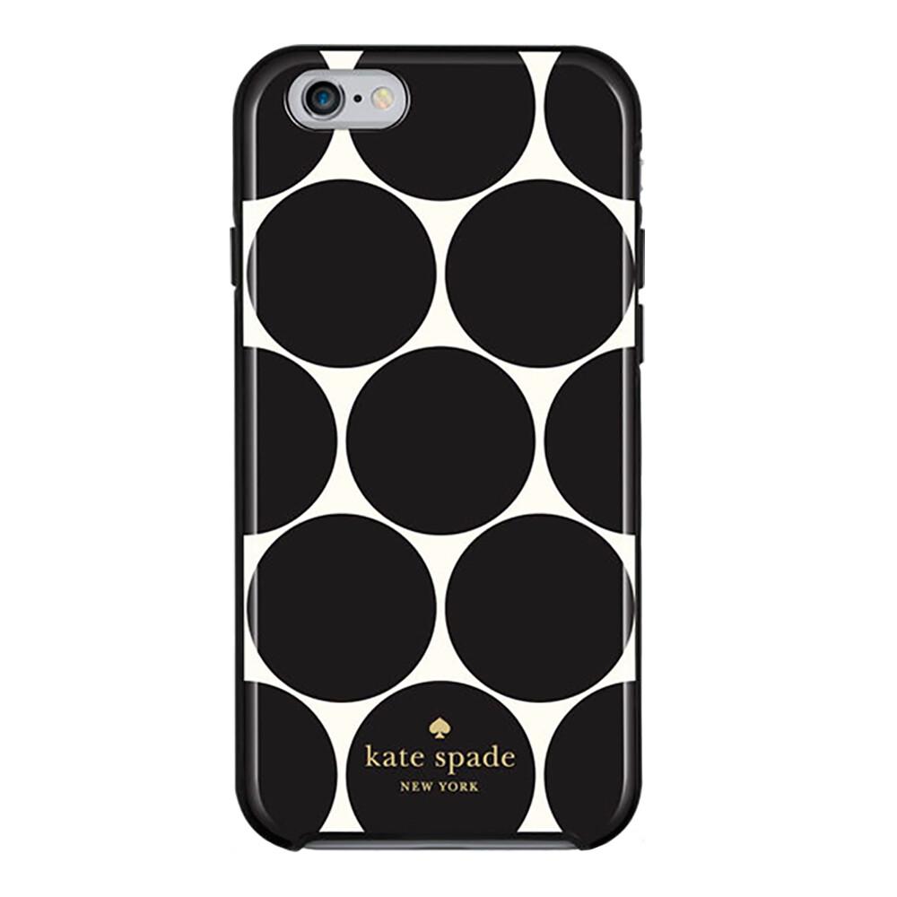 new arrival 701cb 032be Чехол-накладка Kate Spade Flexible Hardshell Oversized Dot Black для iPhone  6/6s