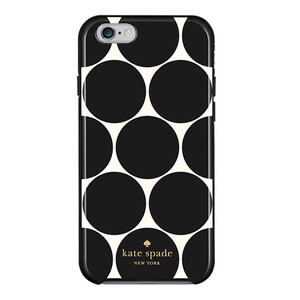 Купить Чехол-накладка Kate Spade Flexible Hardshell Oversized Dot Black для iPhone 6/6s