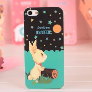 Чехол DEHK Lovely Rabbit для iPhone 5/5S/SE