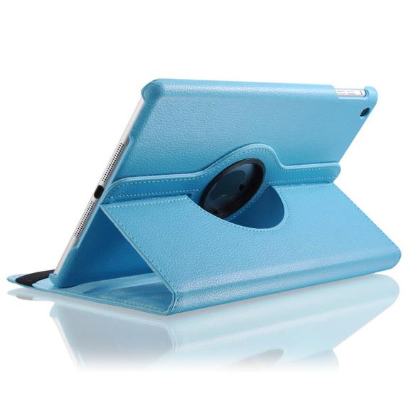 Голубой кожаный чехол Magnetic 360 для iPad Air