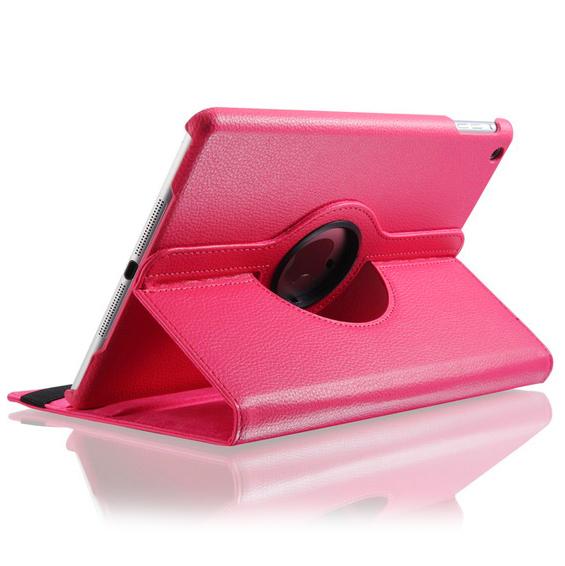Розовый кожаный чехол Magnetic 360 для iPad Air