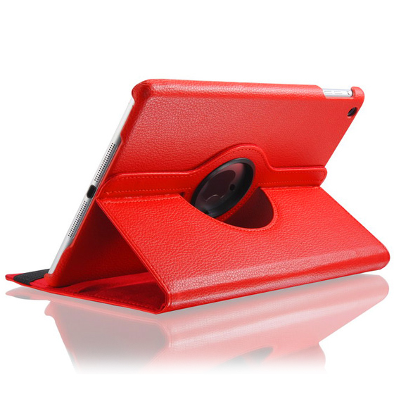 Красный кожаный чехол Magnetic 360 для iPad Air