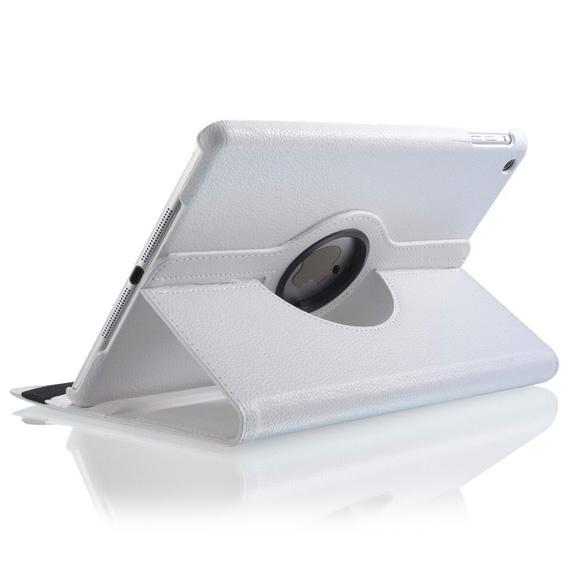 Белый кожаный чехол Magnetic 360 для iPad Air 2
