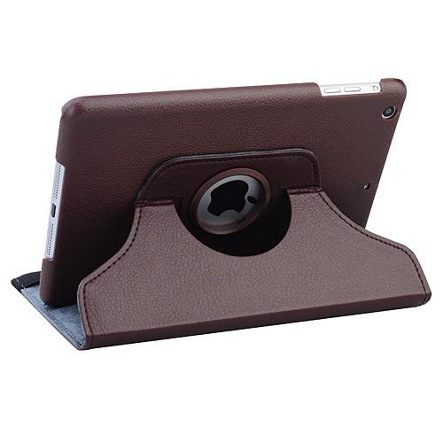 Кожаный чехол 360 Rotating для iPad mini 3/2/1 Коричневый