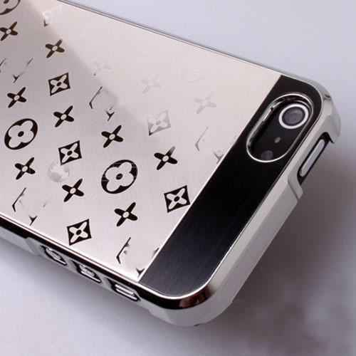 Хромированный чехол Louis Vuitton для iPhone 5/5S/SE