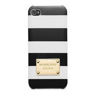 Чехол Michael Kors Striped Black для iPhone 5/5S/SE