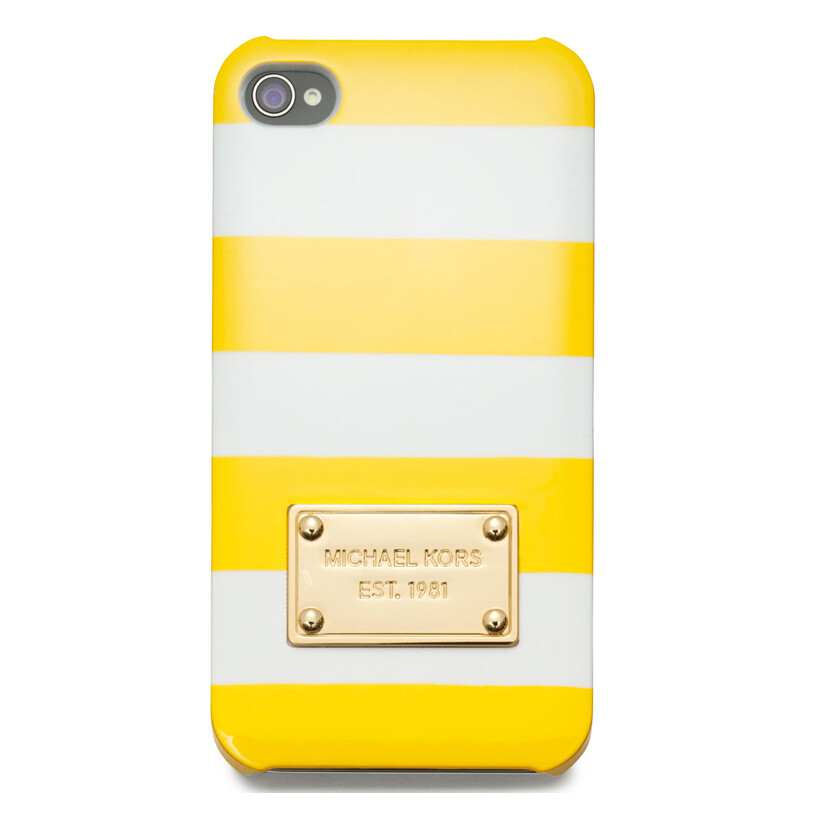 Чехол Michael Kors Striped Yellow для iPhone 5/5S/SE