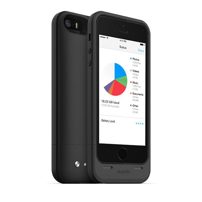 Чехол Mophie Space Pack 16GB с аккумулятором и памятью для iPhone 5/5S/SE