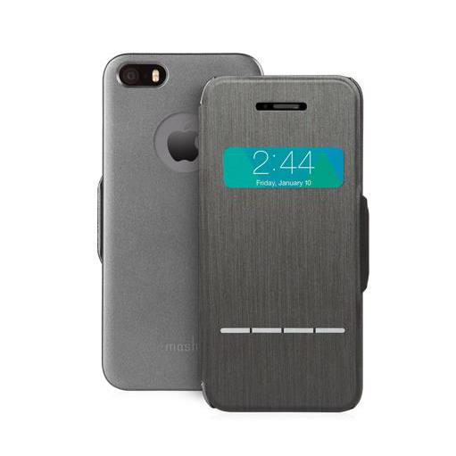 Чехол moshi SenseCover Black для iPhone 5/5S/SE