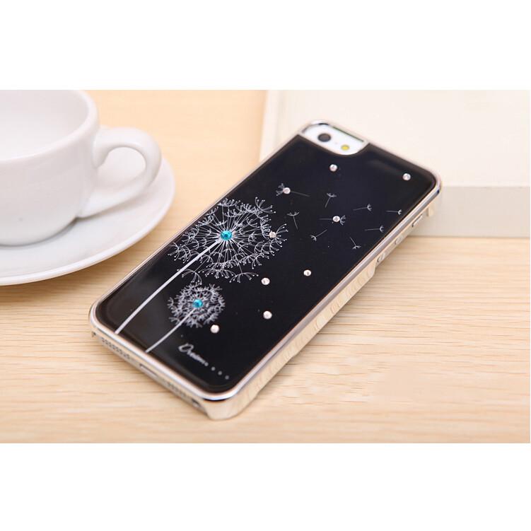 Черный чехол Dandelion SWAROVSKI для iPhone 5/5S/SE
