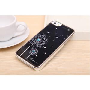 Купить Черный чехол Dandelion SWAROVSKI для iPhone 5/5S/SE