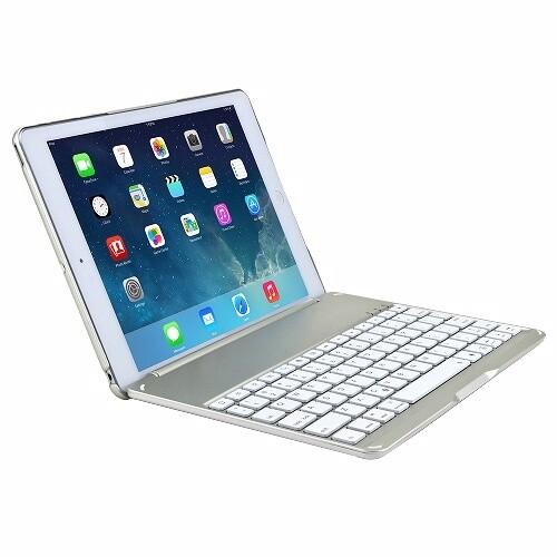 Алюминиевый чехол AddKee Backlit White с клавиатурой для iPad Air 2