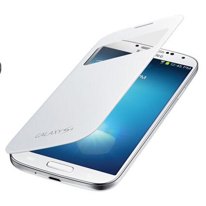 Чехол Samsung S-View Flip Cover OEM для Galaxy S4 Белый